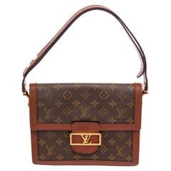 Louis Vuitton Brown Monogram Leather Vintage Dauphine Sac Shoulder Bag
