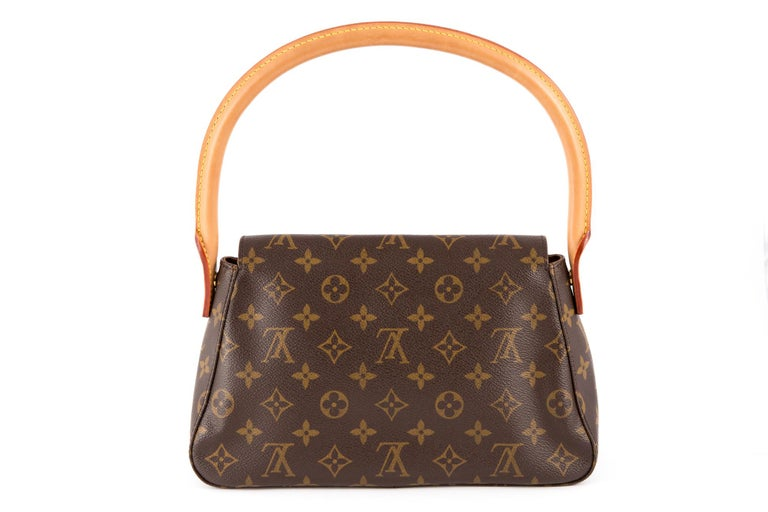 Black Louis Vuitton Brown Monogram Looping Handbag