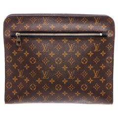 Louis Vuitton Brown Monogram Macassar Clutch Portfolio Poche Documents Holder