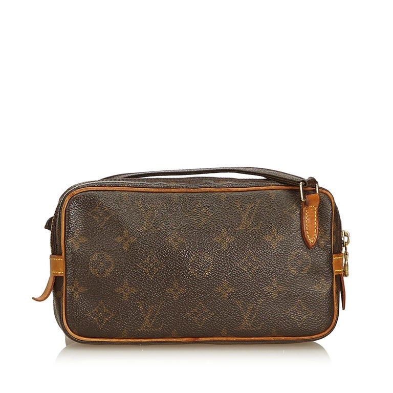 Black Louis Vuitton Brown Monogram Marly Bandouliere For Sale