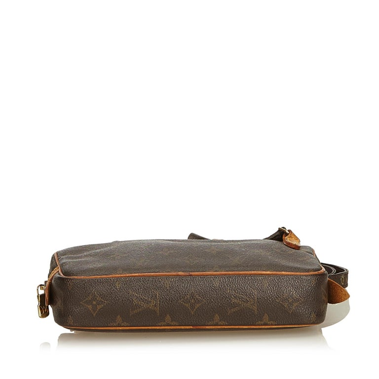 Louis Vuitton Brown Monogram Marly Bandouliere In Good Condition For Sale In Orlando, FL