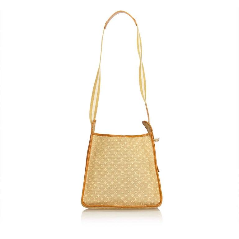 Beige Louis Vuitton Brown Monogram Mini Lin Mary Kate For Sale