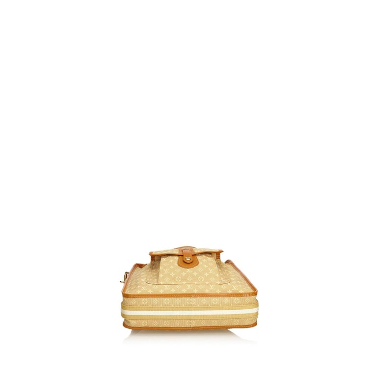 Louis Vuitton Brown Monogram Mini Lin Mary Kate In Good Condition For Sale In Orlando, FL