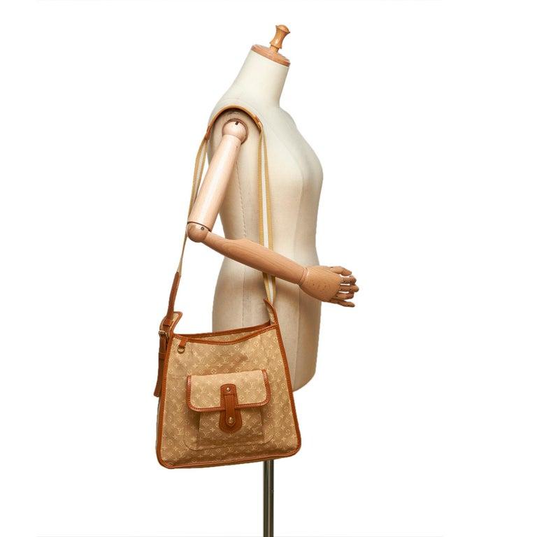 Louis Vuitton Brown Monogram Mini Lin Mary Kate For Sale 4