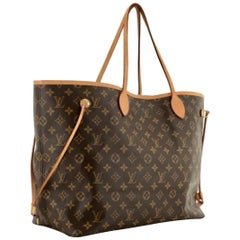 LOUIS VUITTON  Brown  Monogram Neverfull   Canvas MM Tote