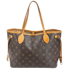 LOUIS VUITTON  Brown  Monogram Neverfull   Canvas PM Tote