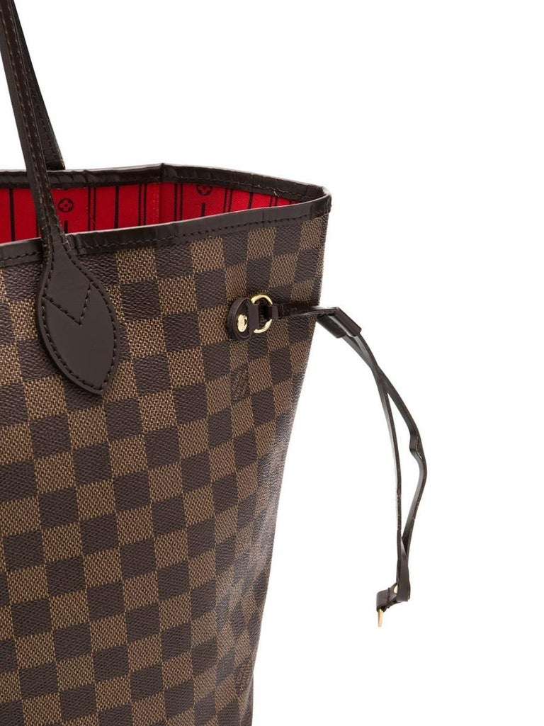 Louis Vuitton Brown Monogram Neverfull MM Tote Bag In Good Condition For Sale In London, GB