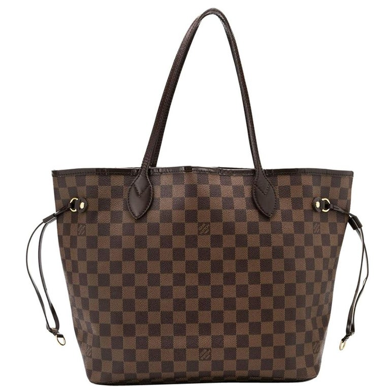 Louis Vuitton Brown Monogram Neverfull MM Tote Bag For Sale