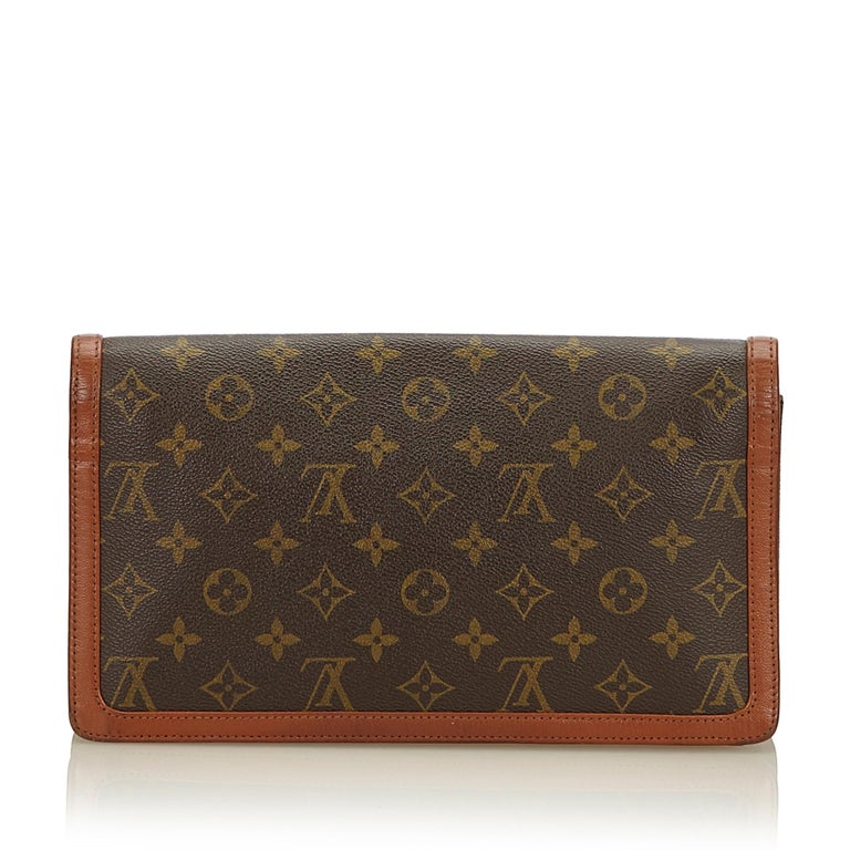 Louis Vuitton Brown Monogram Pochette Dame In Good Condition For Sale In Orlando, FL