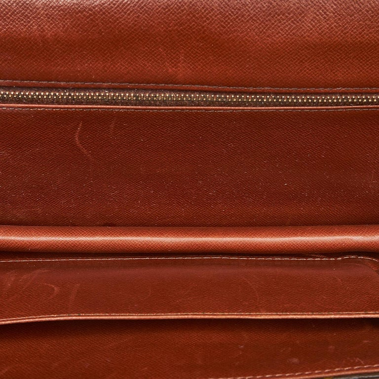 Louis Vuitton Brown Monogram Pochette Dame For Sale 1