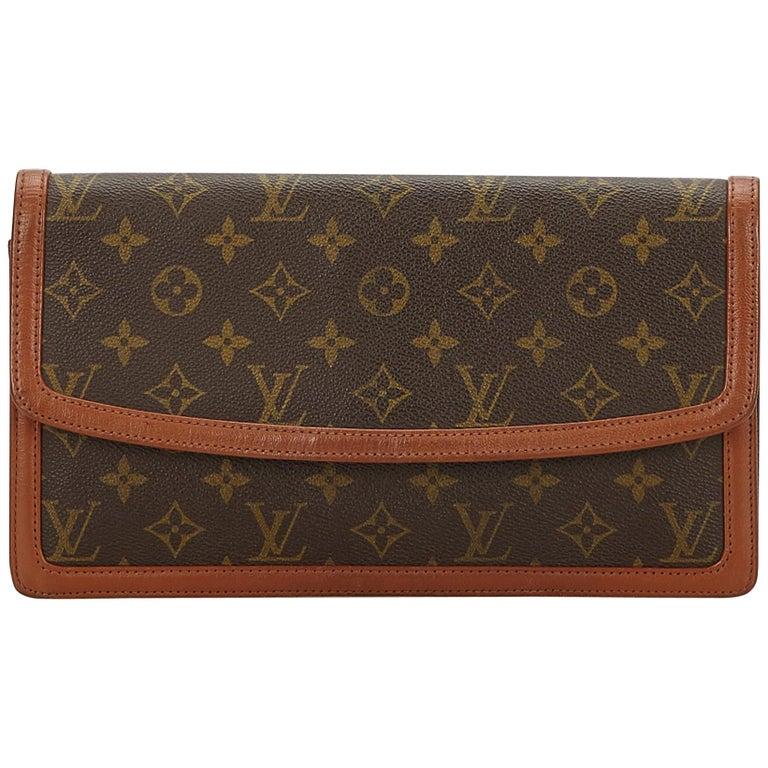 Louis Vuitton Brown Monogram Pochette Dame For Sale