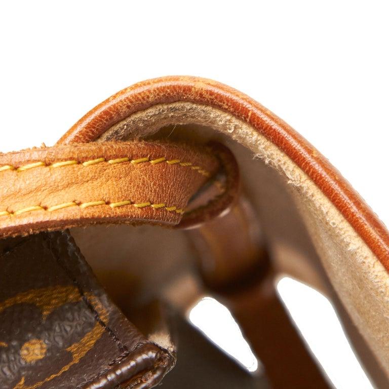 Louis Vuitton Brown Monogram Pochette Twin PM For Sale 6