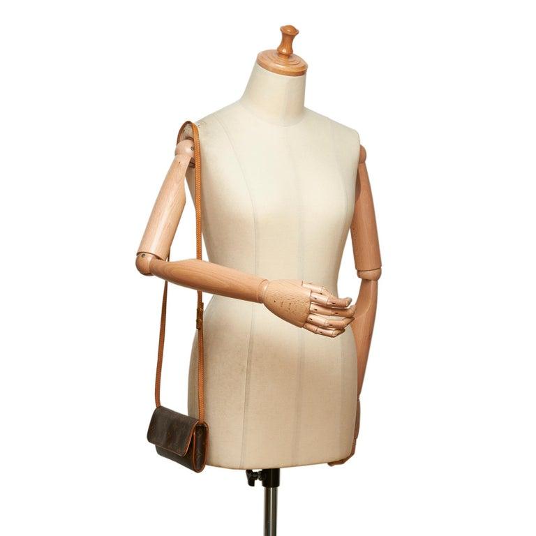 Louis Vuitton Brown Monogram Pochette Twin PM For Sale 8