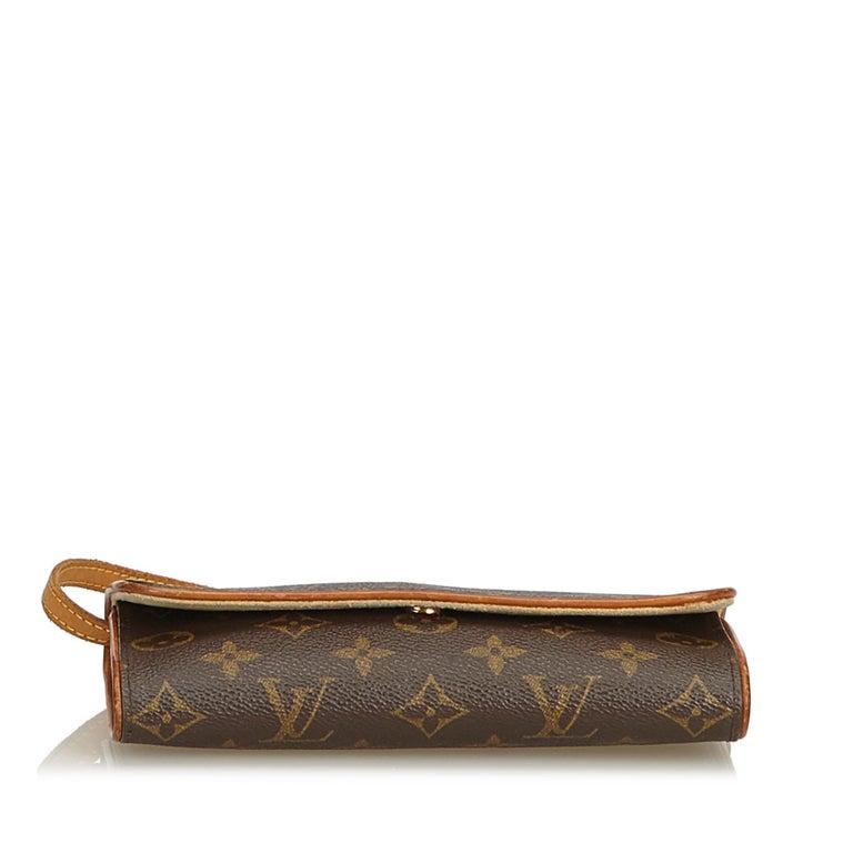 Women's Louis Vuitton Brown Monogram Pochette Twin PM For Sale