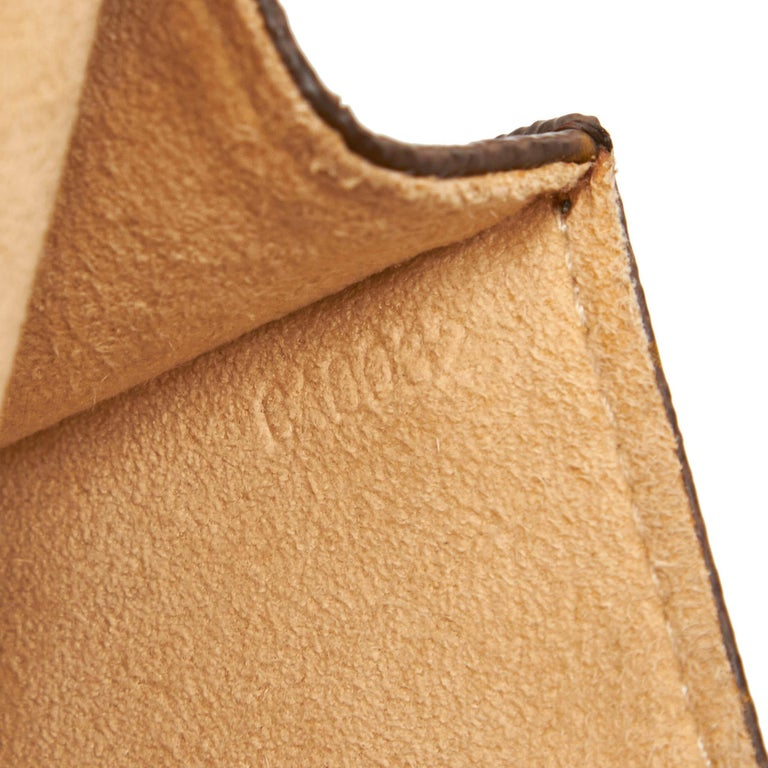 Louis Vuitton Brown Monogram Pochette Twin PM For Sale 3
