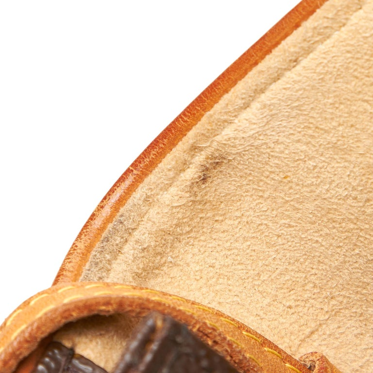 Louis Vuitton Brown Monogram Pochette Twin PM For Sale 4