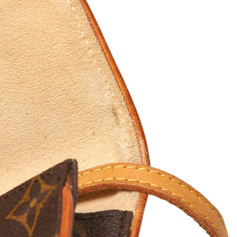 Louis Vuitton Brown Monogram Pochette Twin PM For Sale 5