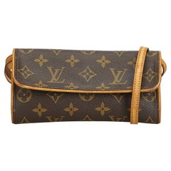 Louis Vuitton Brown Monogram Pochette Twin PM