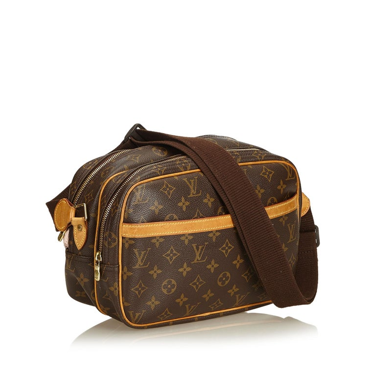 The Reporter PM features a monogram canvas body, top zip closures, an exterior slip pocket, and interior compartments. It carries as B+ condition rating.  Inclusions:  This item does not come with inclusions.   Louis Vuitton pieces do not come with
