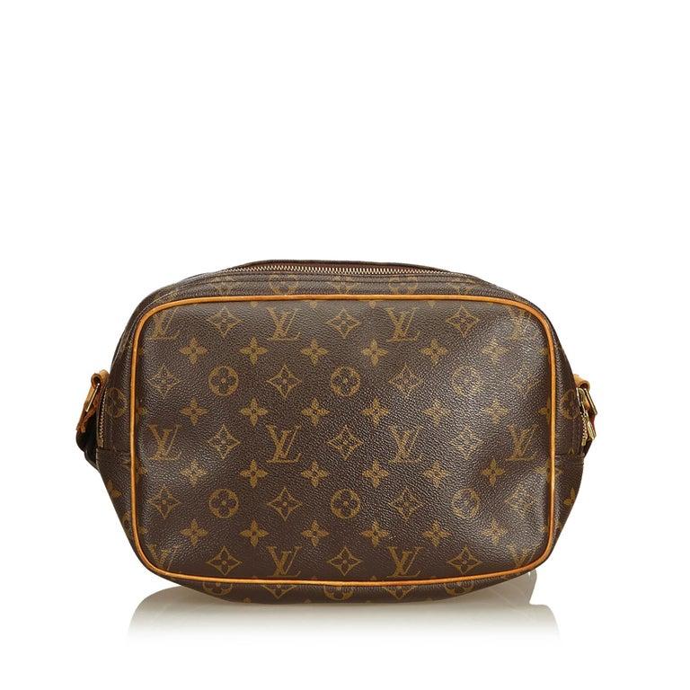 Black Louis Vuitton Brown Monogram Reporter PM For Sale