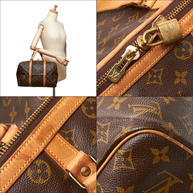 Louis Vuitton Brown Monogram Sac Souple 35 For Sale 11