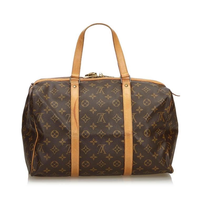 Louis Vuitton Brown Monogram Sac Souple 35 In Good Condition For Sale In Orlando, FL
