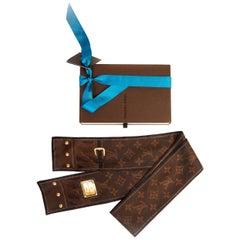 Louis Vuitton Brown Monogram Silk Twill w/ Box