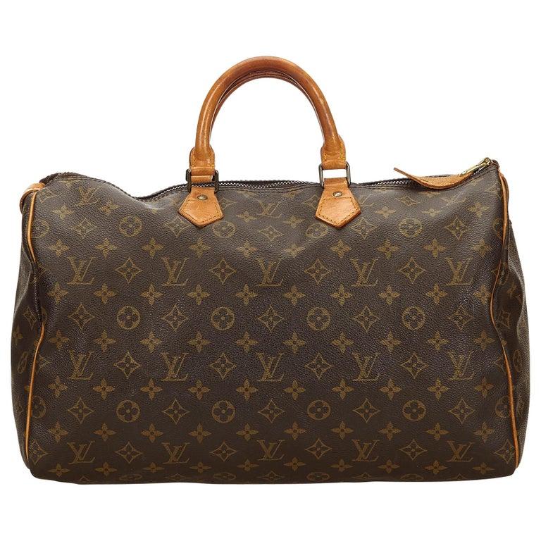 42321d7a906f Louis Vuitton Brown Monogram Speedy 40 at 1stdibs