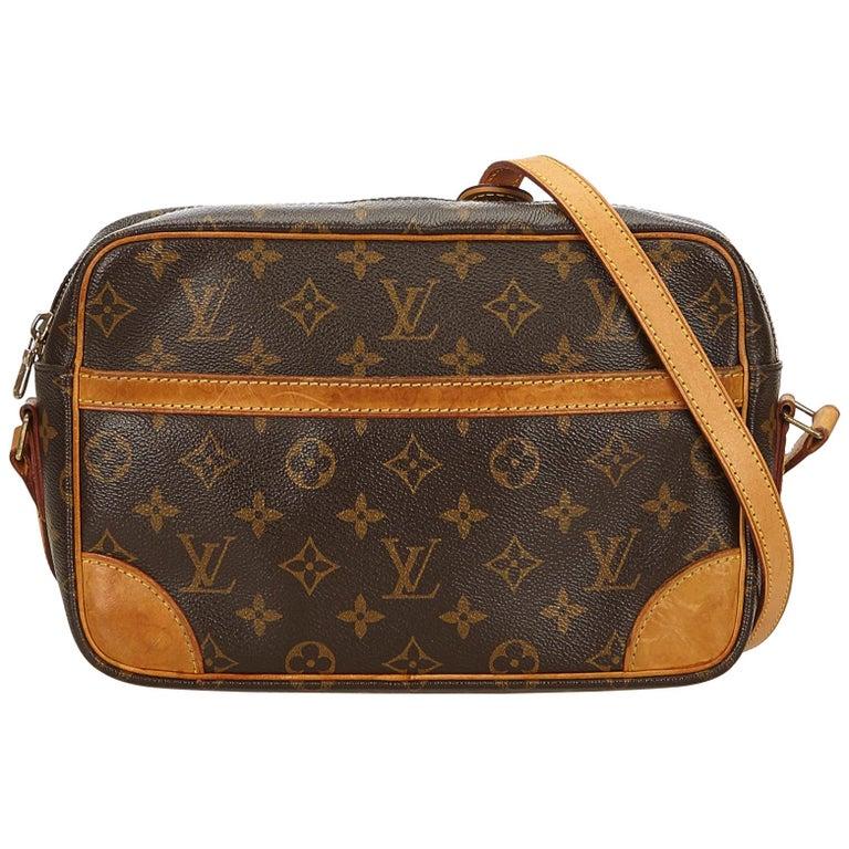 Louis Vuitton Brown Monogram Trocadero 27 For Sale