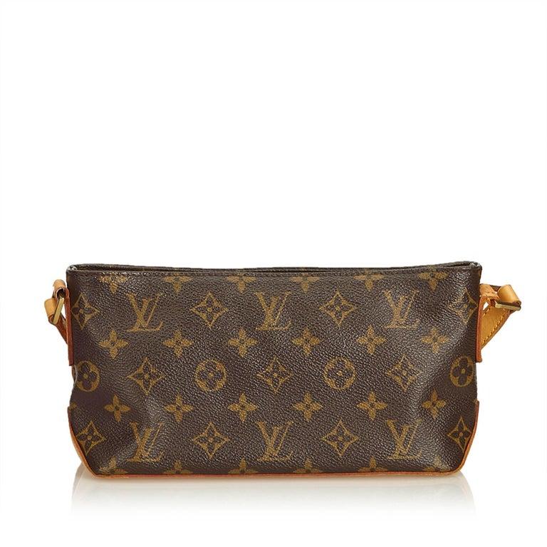 Black Louis Vuitton Brown Monogram Trotteur For Sale
