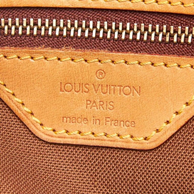 Louis Vuitton Brown Monogram Trotteur For Sale 1
