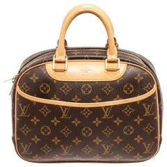 Louis Vuitton Brown Monogram Trouville Satchel