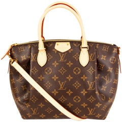 LOUIS VUITTON brown Monogram TURENNE PM TOTE Shoulder Bag