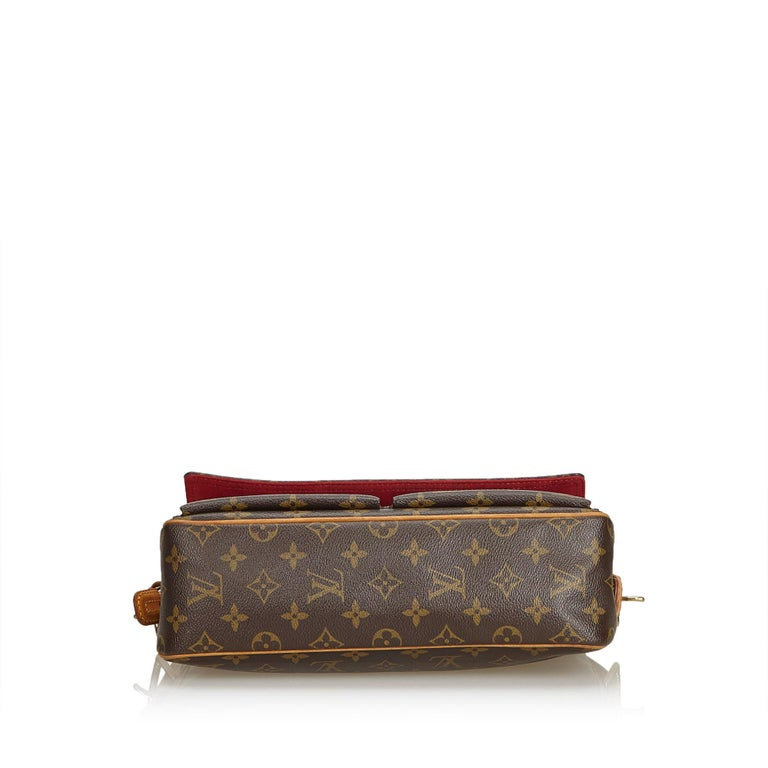 Louis Vuitton Brown Monogram Viva Cite MM In Good Condition For Sale In Orlando, FL