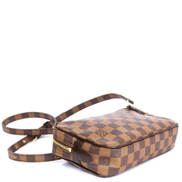 Brown LOUIS VUITTON brown POCHETTE MARLY BANDOULIERE DAMIER Crossbody Bag For Sale