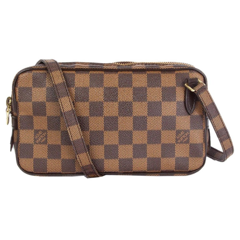 LOUIS VUITTON brown POCHETTE MARLY BANDOULIERE DAMIER Crossbody Bag For Sale