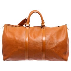 Louis Vuitton Brown Siena Epi Leather Keepall 50cm Duffel bag