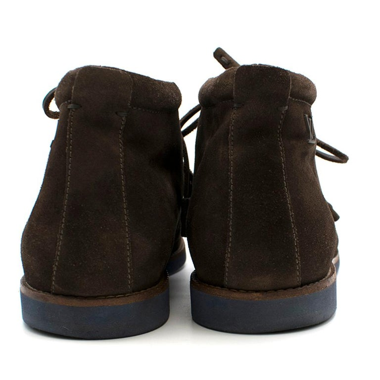 Black Louis Vuitton Brown Suede Ankle Boots SIZE 10	 For Sale
