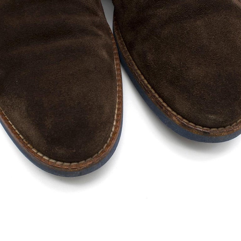 Men's Louis Vuitton Brown Suede Ankle Boots SIZE 10	 For Sale
