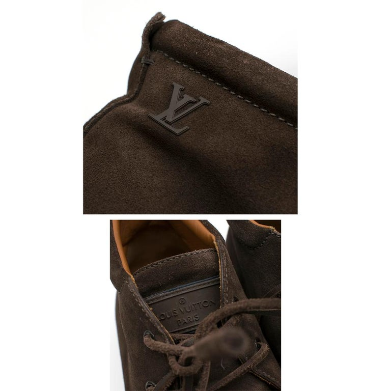 Louis Vuitton Brown Suede Ankle Boots SIZE 10	 For Sale 2