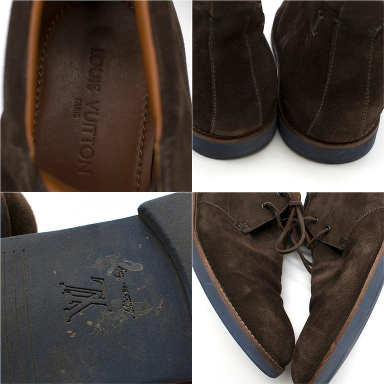 Louis Vuitton Brown Suede Ankle Boots SIZE 10	 For Sale 4