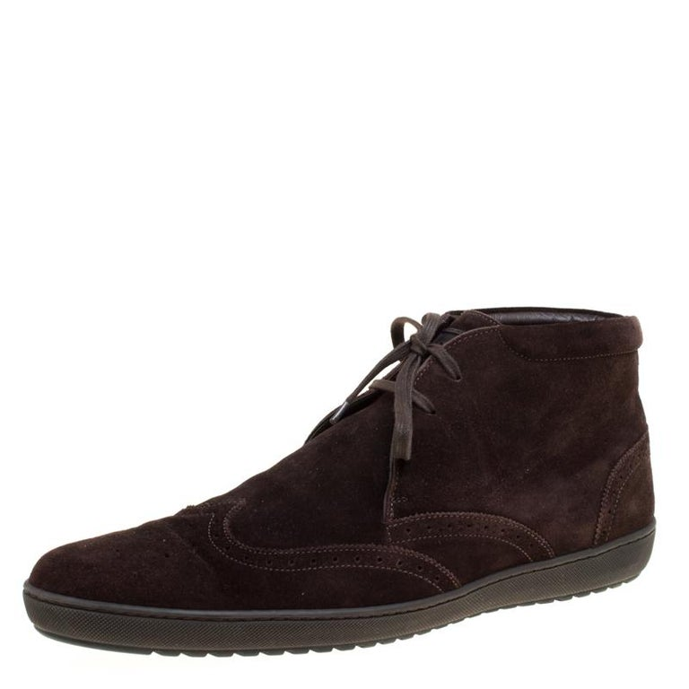 da8ed0152be7 Louis Vuitton Brown Suede Sneaker Boots Size 43.5 For Sale at 1stdibs