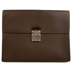 Louis Vuitton Brown Taiga Leather Minuto Portfolio Briefcase