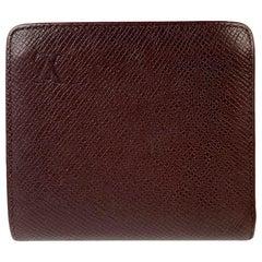 Louis Vuitton Brown Taiga Leather Porte Billets Bifold Wallet