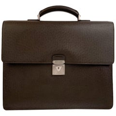 Louis Vuitton Brown Taiga Leather Robusto 2 Compartment Briefcase