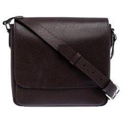 Louis Vuitton Brown Taiga Leather Roman PM Bag