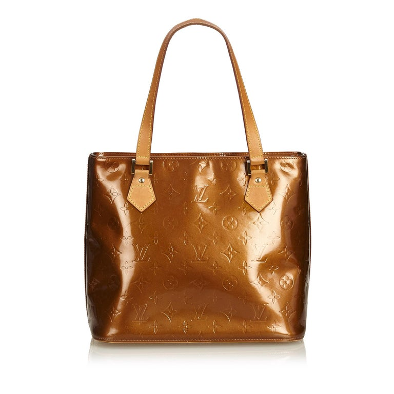 Louis Vuitton Brown Vernis Houston In Good Condition For Sale In Orlando fce25d467ff3f