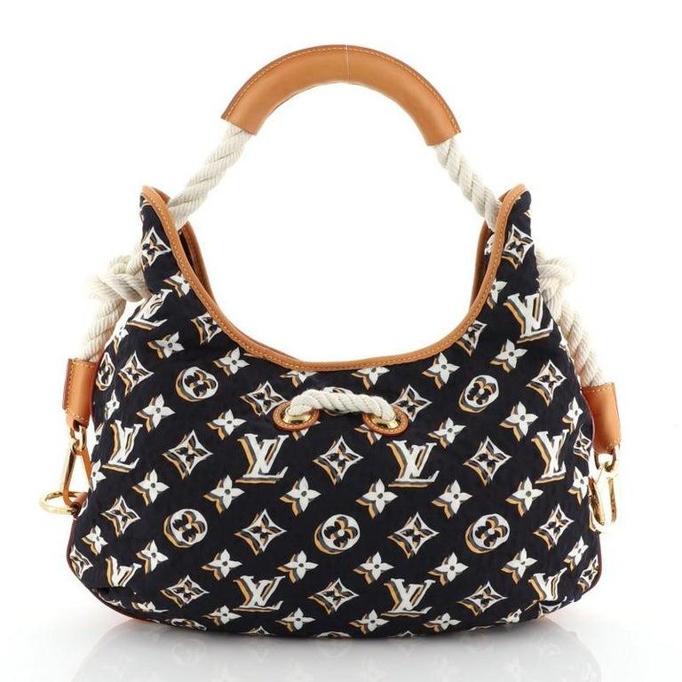 Louis Vuitton Bulles Handbag Monogram Nylon MM In Good Condition For Sale In New York, NY