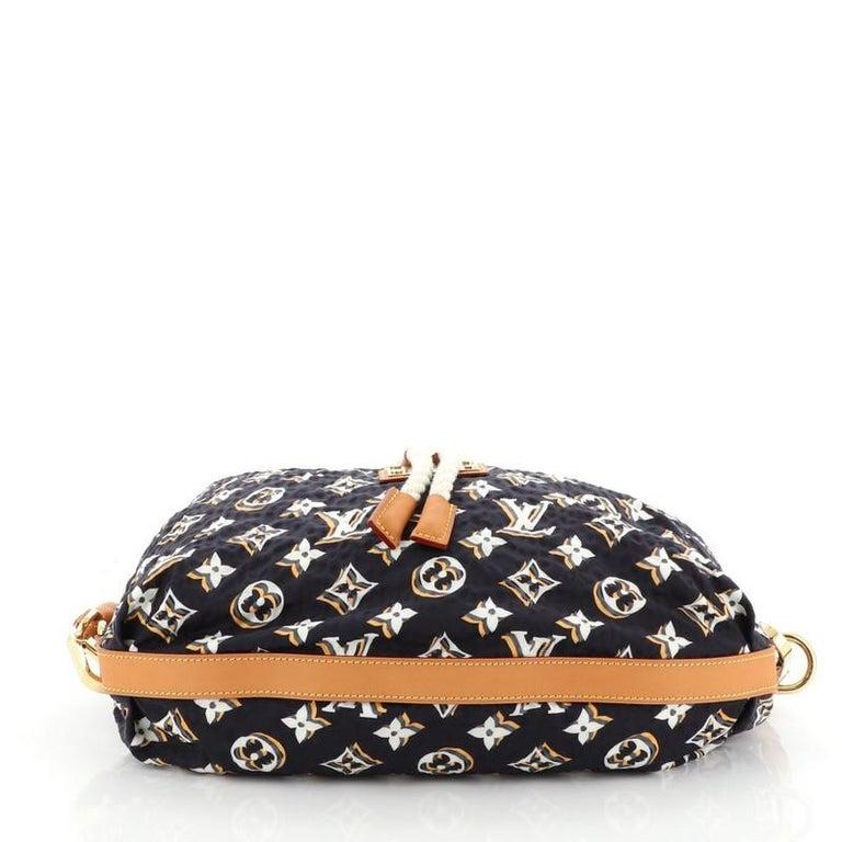 Women's or Men's Louis Vuitton Bulles Handbag Monogram Nylon MM For Sale