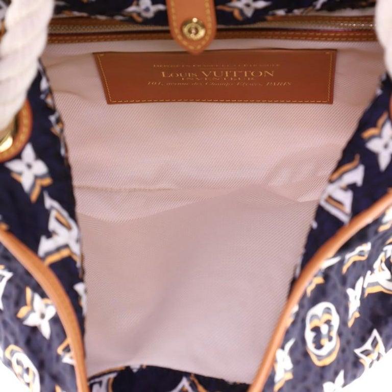 Louis Vuitton Bulles Handbag Monogram Nylon MM For Sale 1